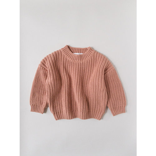 Kids of April Chunky Sweater - Terracotta