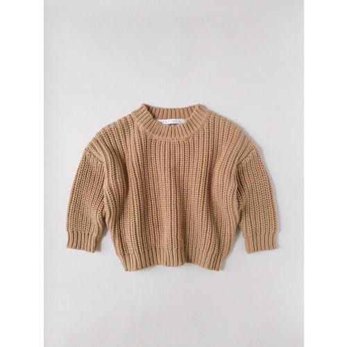 Kids of April Chunky Sweater - Toffee