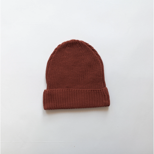 KINDLY Chunky knit beanie KID - Brick