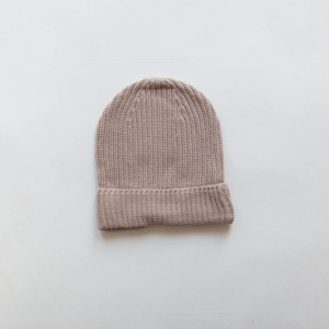 KINDLY Chunky knit beanie KID - Hazelnut