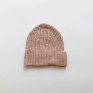 KINDLY Chunky knit beanie KID - Pink Earth