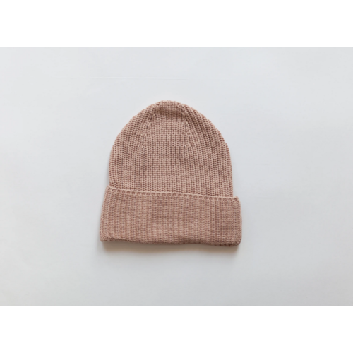 KINDLY Chunky knit beanie ADULT - Pink Earth