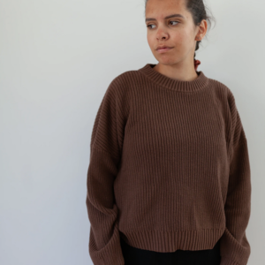 KINDLY Chunky knitted pullover ADULT - Espresso
