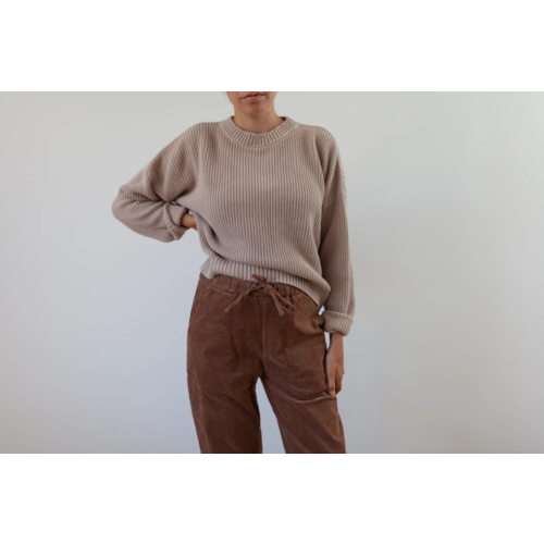 KINDLY Chunky knitted pullover ADULT - Hazelnut