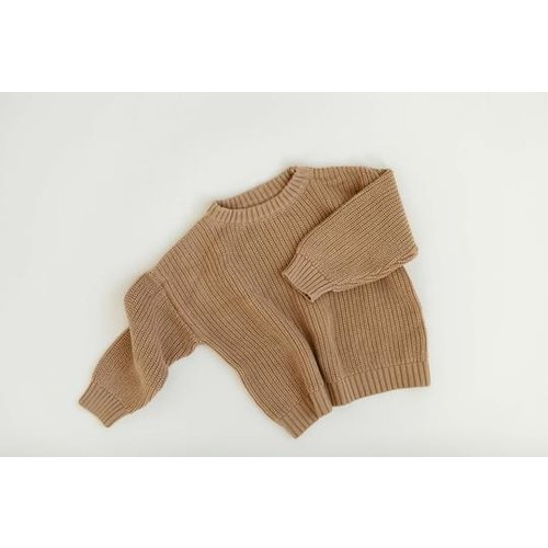 KINDLY Chunky knit sweater KID - Camel