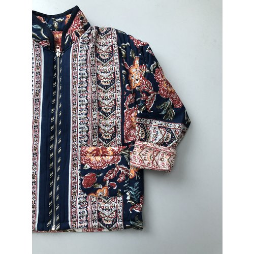 Mill and Bory India printed jacket - Navy