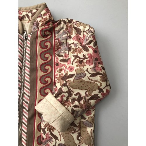 Mill and Bory India printed jacket - Ivory