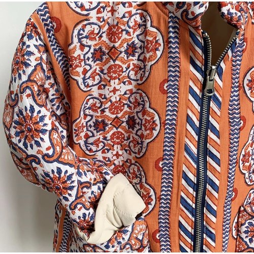 Mill and Bory India printed jacket - Orange