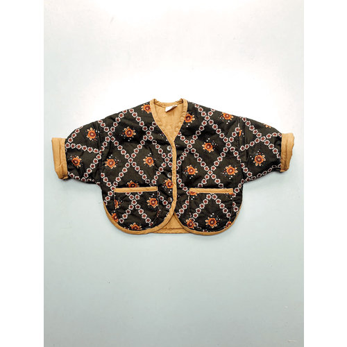 Bon Bon Butik Quilted jacket - Yellow
