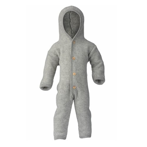 Engel Natur Overall van wol fleece - Light Grey