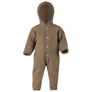 Engel Natur Overall van wol fleece - Walnut