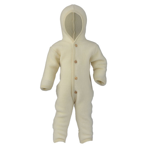 Engel Natur Overall van wol fleece - Naturel