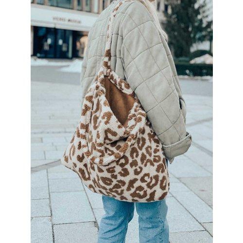Studio Noos Teddy leopard mom bag - ecru