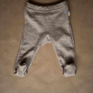 Joha Legging met voetjes wol - zijdemix -Bruin