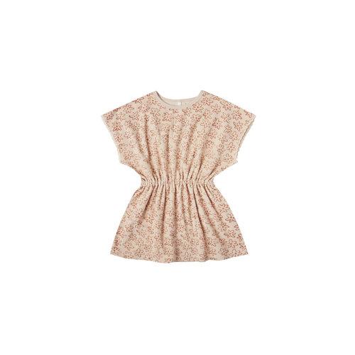 Rylee + Cru Flower outline kaftan dress