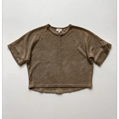 The Simple Folk The Oversized Terry Top - Walnut
