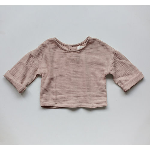 The Simple Folk The Button Back Top - Antique Rose