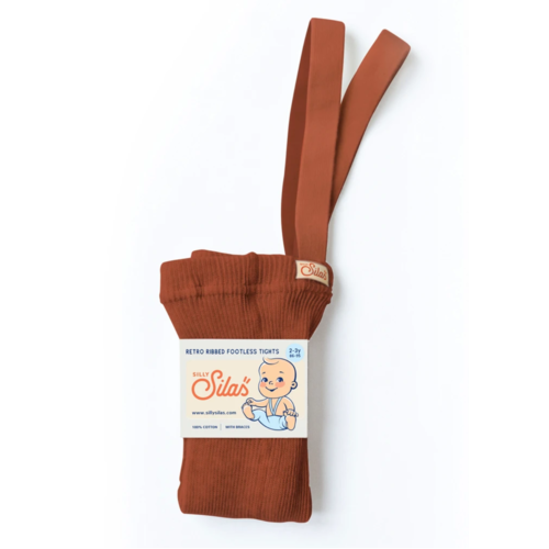Silly Silas Footless Tights with braces  - Cinnamon