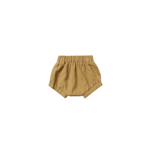 Quincy Mae Woven bloomer - Gold