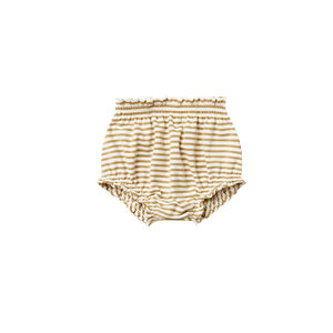 Quincy Mae Gathered bloomer - Gold stripe