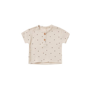 Quincy Mae Woven henry top - Natural