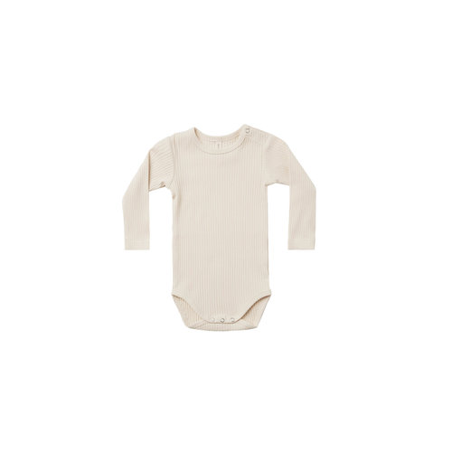 Quincy Mae Ribbed onesie - Natural
