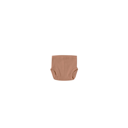 Quincy Mae Ribbed bloomer - Terracotta