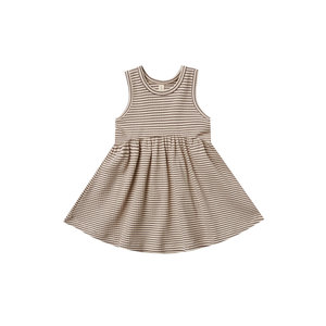Quincy Mae Ribbed tank dress - Charcoal stripe