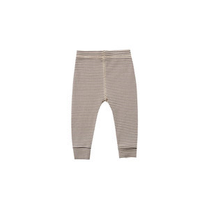 Quincy Mae Ribbed legging - Charcoal stripe
