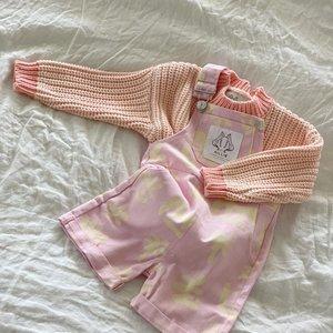 By Billie By Billie Tropi-cool overalls  - Pink Lemon