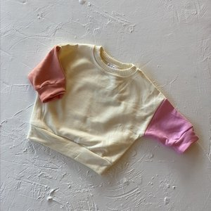 By Billie By Billie French Terry pullover - pink/lemon