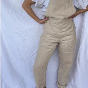 By Billie By Billie Women's Linen Overalls - Beige