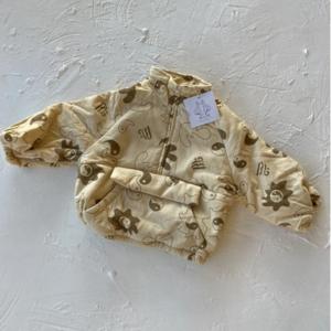 By Billie By Billie Printed Yin Yang Joey Jacket - beige