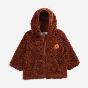 BOBO CHOSES Bobo Choses Face embroidery hooded sheepskin jacket
