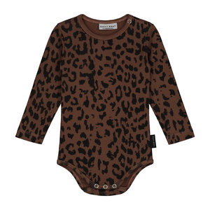 Daily Brat Daily Brat - Leopard bodysuit hickory brown