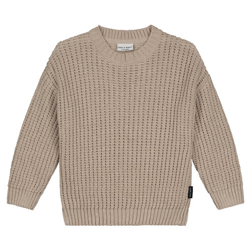 Daily Brat Daily Brat - Cody knitted sweater stone