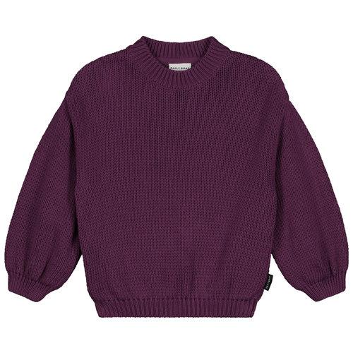 Daily Brat Daily Brat - Sadie knitted sweater purple rain