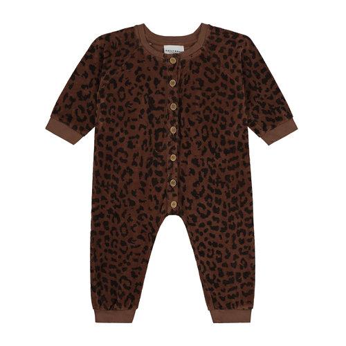 Daily Brat Daily Brat - Leopard towel bodysuit hickory brown