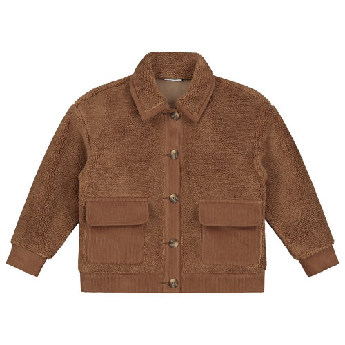 Daily Brat Daily Brat - Royal teddy jacket - forest brown
