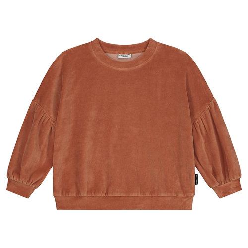 Daily Brat Daily Brat - Marant velours sweater - caramel swirl