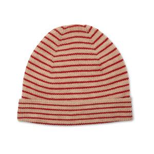 Konges Sløjd Konges Sløjd - Meo Beanie - True red with stripe