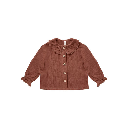 Rylee and Cru Rylee and Cru - Oversized collar blouse - Wine