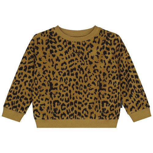 Daily Brat Daily Brat - Leopard towel sweater - Sandstone