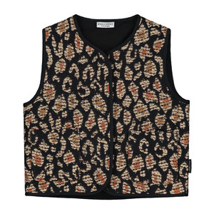 Daily Brat Daily Brat - Lucky leopard jacquard vest