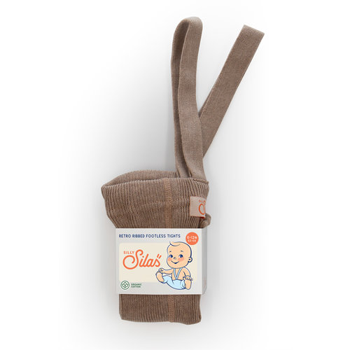 Silly Silas Footless Tights with braces  - Cacao blend