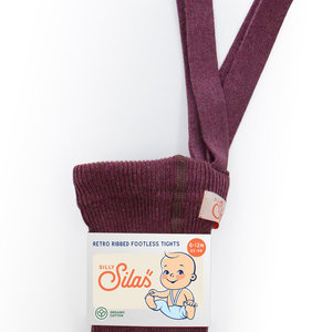 Silly Silas Footless Tights with braces  - Fig blend