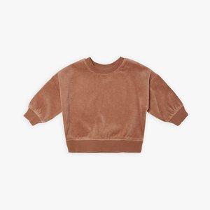 Quincy Mae Quincy Mae- Drop shoulder sweatshirt - Clay