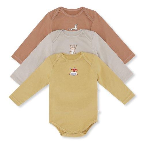 Konges Sløjd Konges Sløjd - 3 pack body embroidery - Tan Mustard Beige