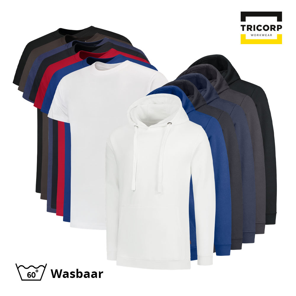 Tricorp Workwear Tricorp T-Shirt & Sweater Capuchon Combo (5x t-shirt + 3x sweater capuchon)