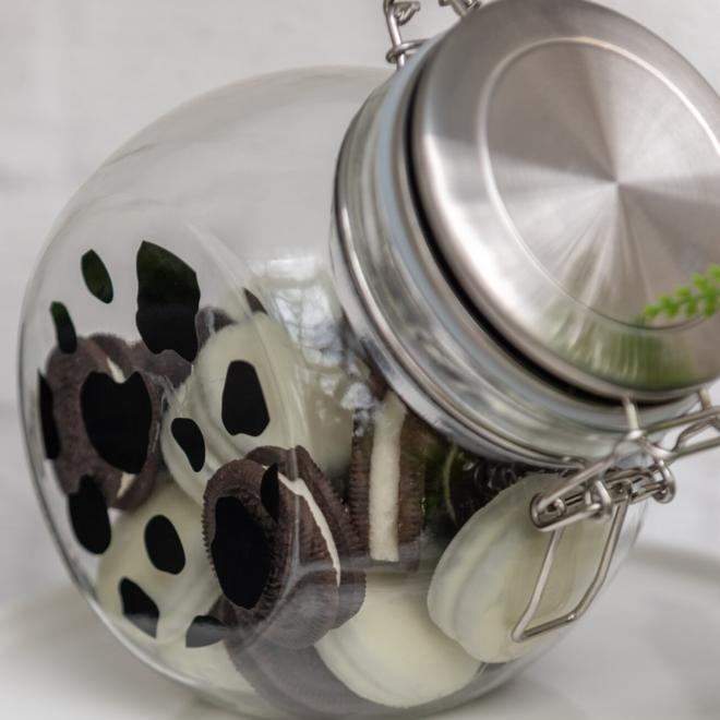 Snoeppot Koe Glas Met Deksel 1.6 L